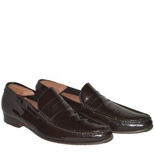 DsQuared2 Brown Patent Leather Loafers SZ US 10